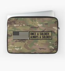 Once a Soldier, Always a Soldier (Camo) Laptop Sleeve