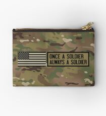 Once a Soldier, Always a Soldier (Camo) Studio Pouch