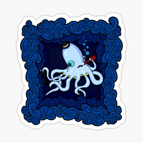 Sherlocktopus Sticker