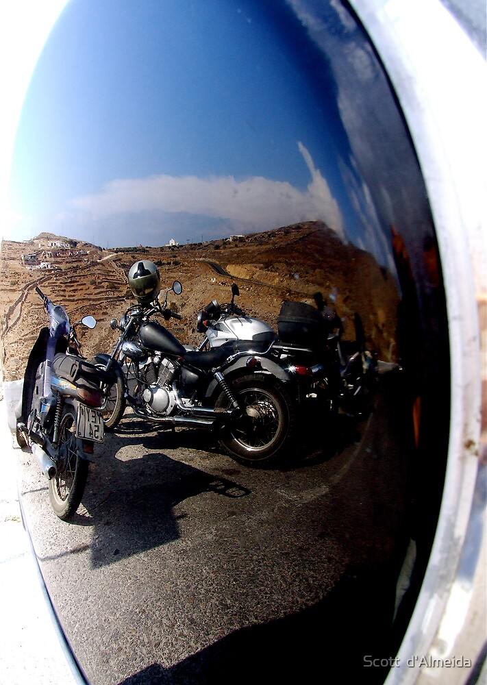 MIRRORED MOTORCYCLES  by Scott  d'Almeida