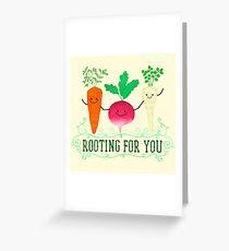Tarjeta de felicitación Enraizamiento para usted - Punny Garden