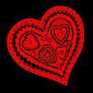 Valentine Heart 10 Red  by Heatherian