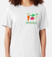 Rooting for you - Punny Garden Slim Fit T-Shirt