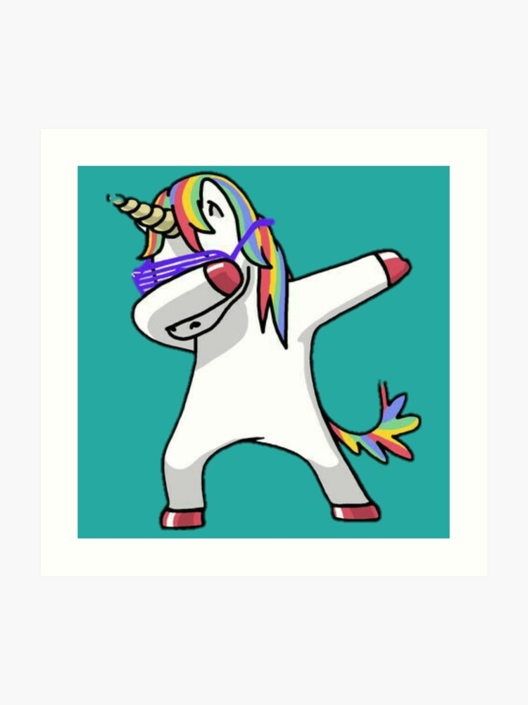 Unicorn Dab Art Print