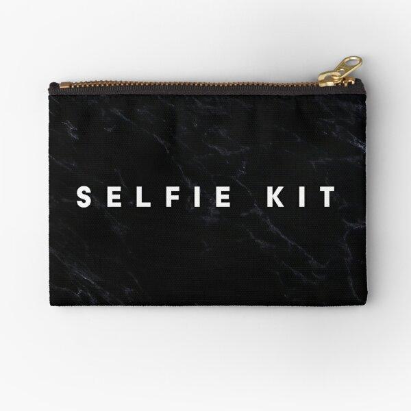 Selfie Kit Dark Marble Makeup Bag Zipper Pouch