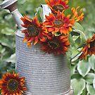 Autumns Sunflower Delight  by Sandra Foster