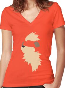 Growlithe Women's Fitted V-Neck T-Shirt
