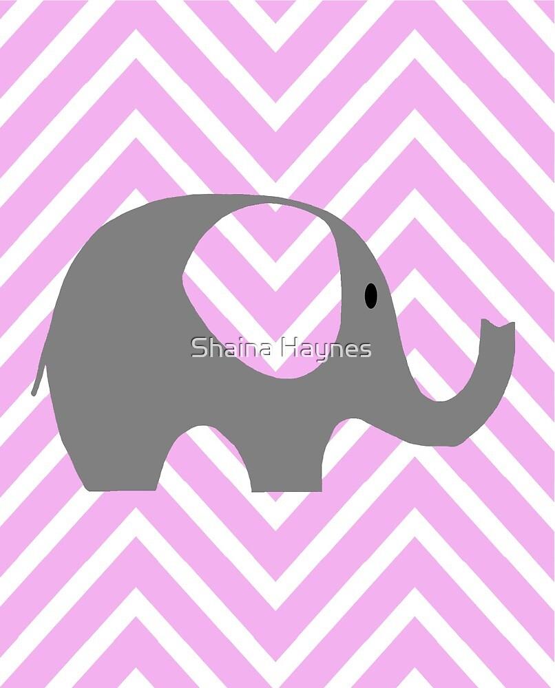 Chevron Elephant  by Shaina Haynes