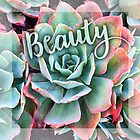 """""""Beauty"""" mint green and pink cactus close-up  by Luceworks"""