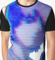 Distressed Lain Glitch Graphic T-Shirt