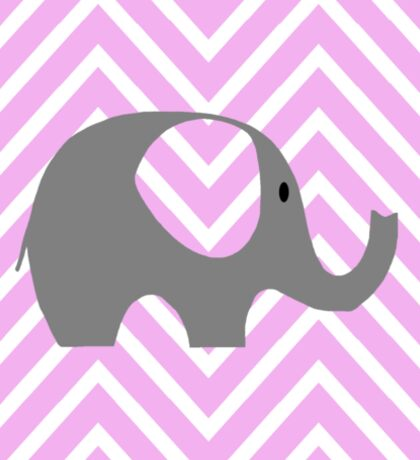 Chevron Elephant  Sticker