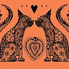 Two Cat Tangle by Heatherian
