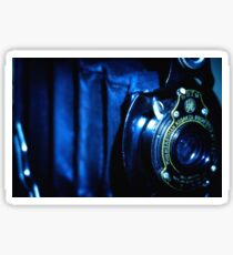 Capturing Yesteryear Vintage photography artwork antique kodak camera photo Sticker