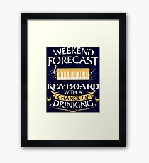 Weekend Forecast Keyboard With A Chance Of Drinking Framed Print