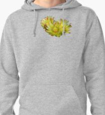 Golden Barrel Cactus Flower Pullover Hoodie