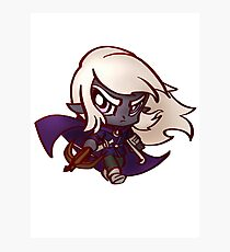 Chibi Dark Elf  Photographic Print