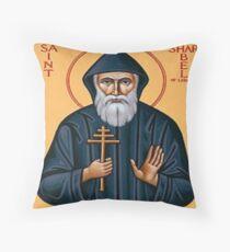 Saint Charbel Makhlouf of Lebanon Throw Pillow