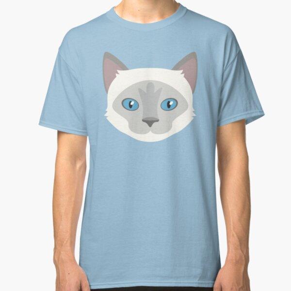 Himalayan Cat Pet Portrait - Pretty Girl Classic T-Shirt