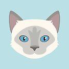 Himalayan Cat Pet Portrait - Pretty Girl by goddammitstacey