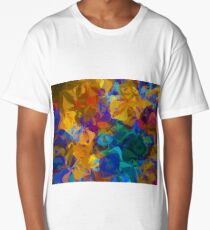 Abstract Design Bright Trendy Colors Long T-Shirt