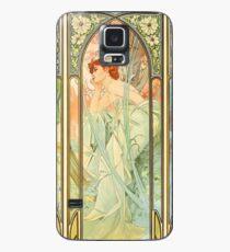Funda/vinilo para Samsung Galaxy Serie de Alphonse Mucha Times of Day Painting