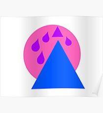 purple rain blue mountain express or shapes Poster