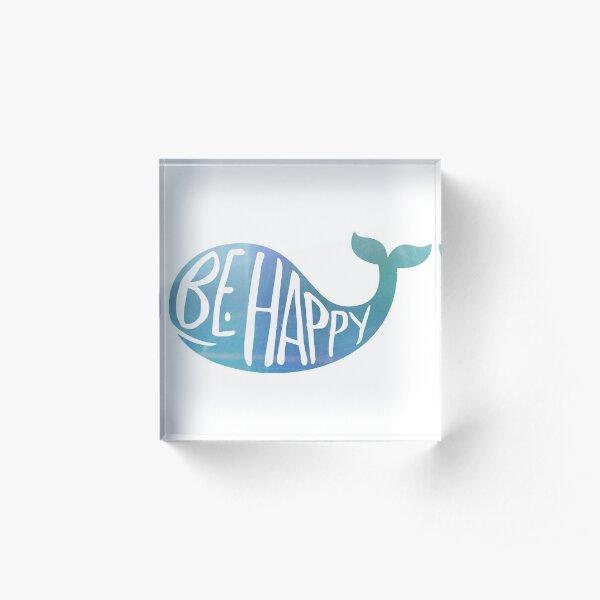 Happy Whale Acrylic Block