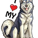 More Husky Love by aunumwolf42
