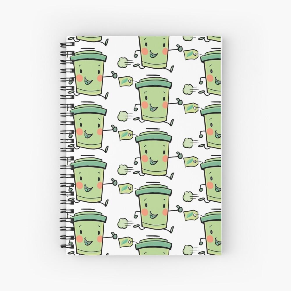 express green tea Spiral Notebook
