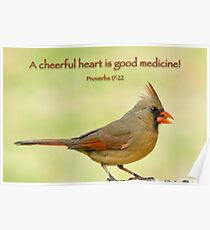 Cheerful Cardinal  Poster