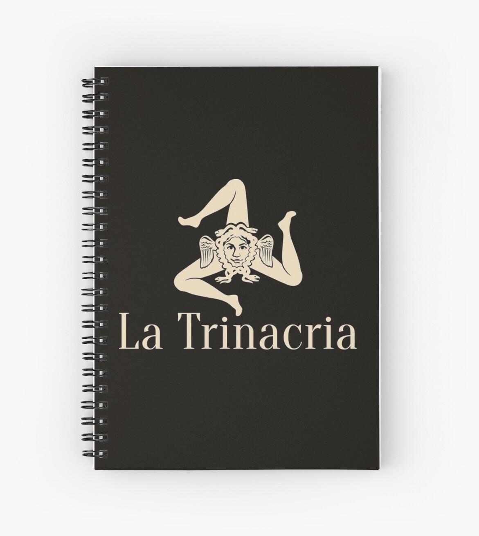 La Trinacria Symbol Of Sicily Spiral Notebooks By Bebebelle