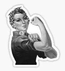 Rosie The Riveter T-Shirt Vintage Propaganda Retro Feminist  Sticker