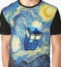 Flying Magic Phone Box Graphic T-Shirt