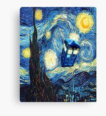 Flying Magic Phone Box Canvas Print
