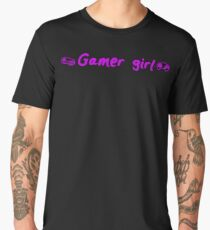 gamer girl gaming girly geek Men's Premium T-Shirt