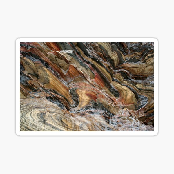 Rock swirls in nature Sticker