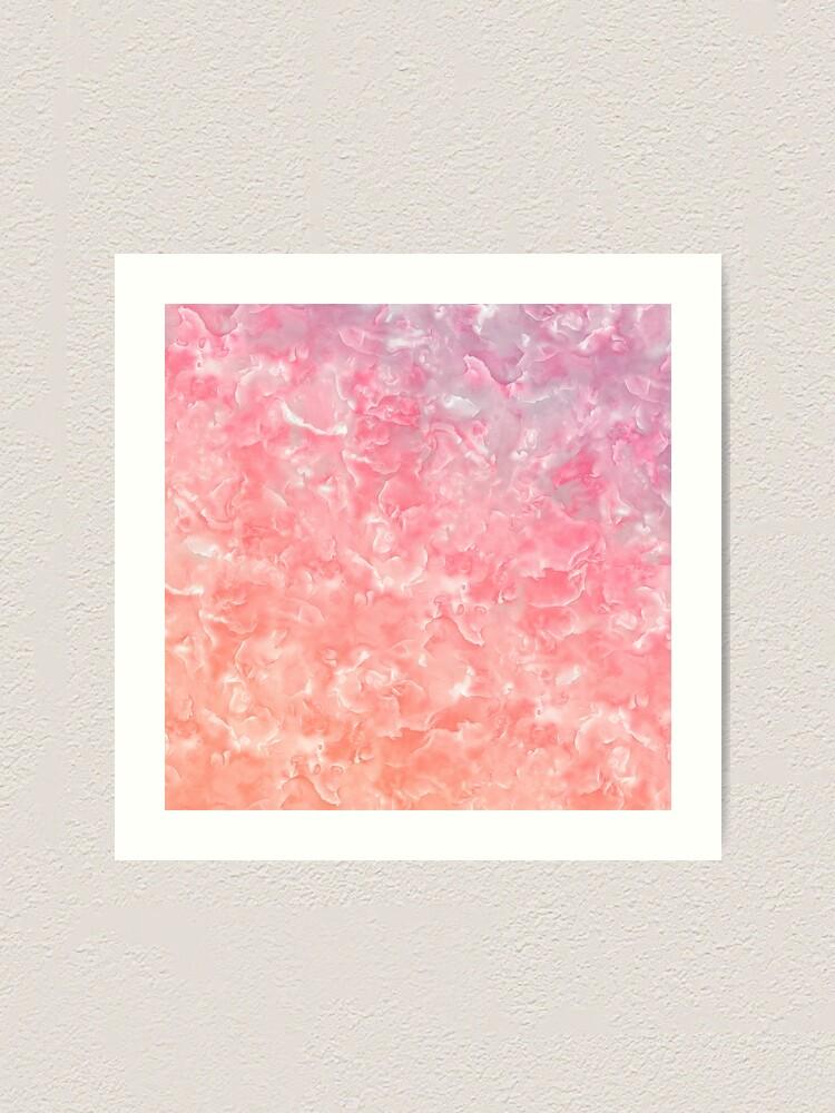 Alternate view of Rose Gold Blush Agate Marble Geode Gem Art Print