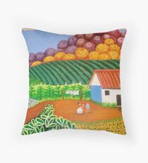 FINCA SAN. IGNACIO.  (Nicaraguan Folk Art) Throw Pillow