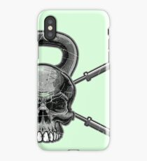 Kettlebell Crossed Barbells (washed out) iPhone Case