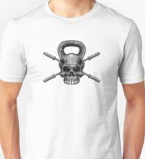 Kettlebell Crossed Barbells (ausgewaschen) Slim Fit T-Shirt