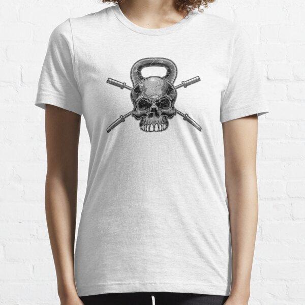Kettlebell Crossed Barbells (ausgewaschen) Essential T-Shirt