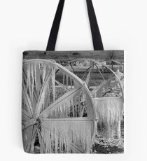 Frozen Wheels B&W Tote Bag