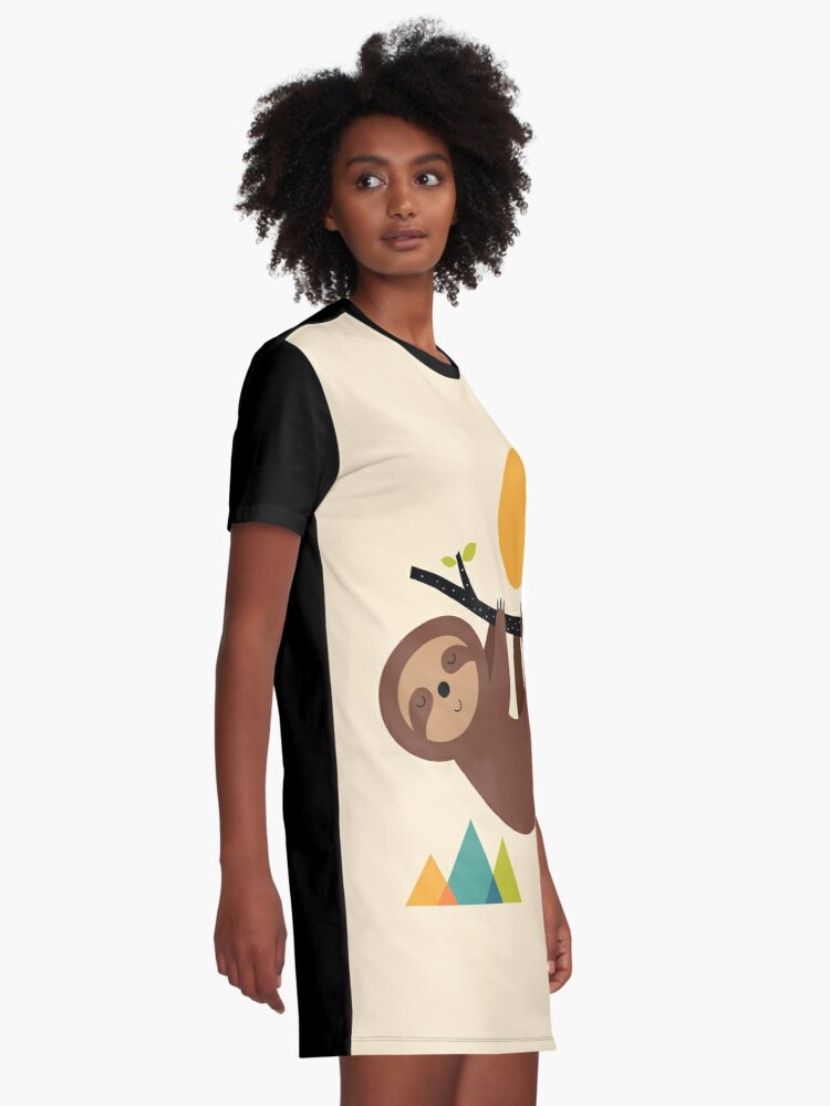 Alternate view of Keep Calm And Live Slow Graphic T-Shirt Dress