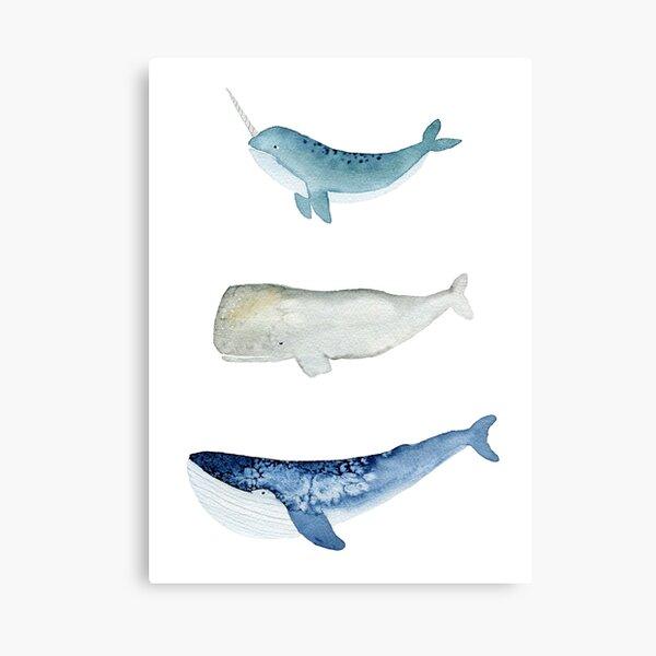 Whale Squad Canvas Print