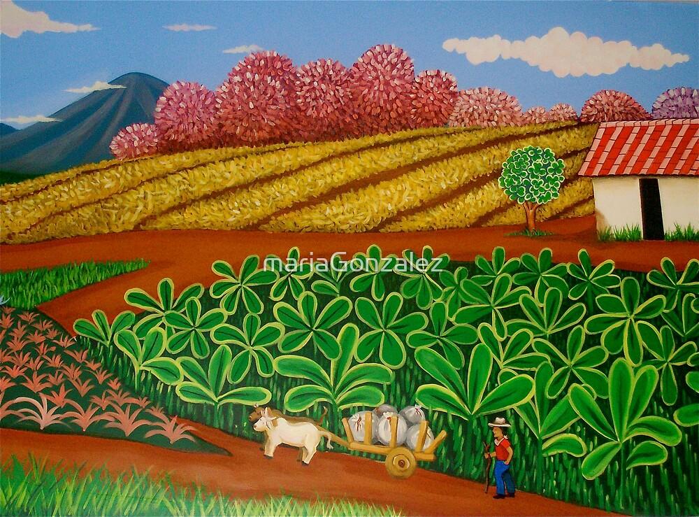 FINCA SAN. IGNACIO.  (Nicaraguan Folk Art) by mariaGonzalez