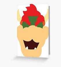 Bowser Head Greeting Card