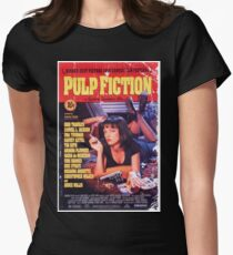 Pulp Fiction Poster Women's Fitted T-Shirt