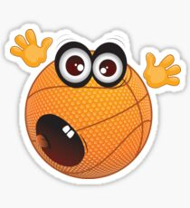Cute Basketball Ball Sticker