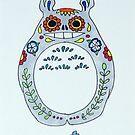 Sugar Skull Totoro by Lee Twigger