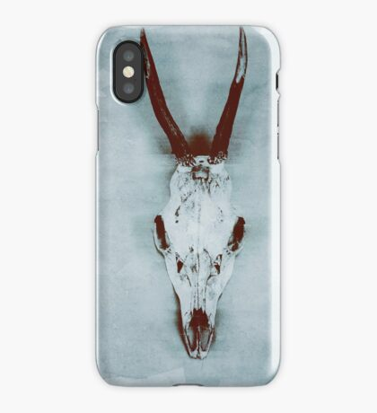Floating roe deer skull iPhone Case